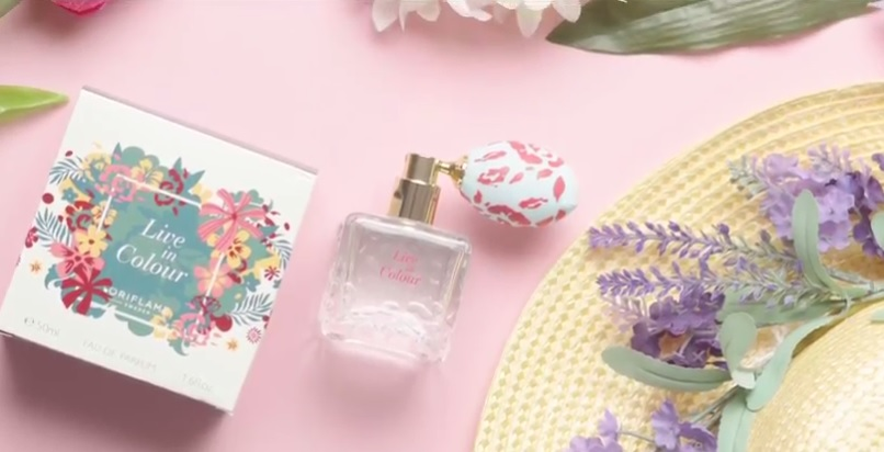 Noua apa de parfum Live in Colour by Oriflame